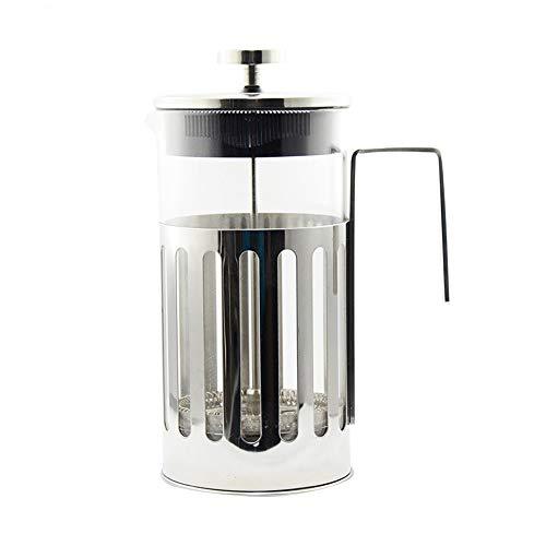 Vobajf Caffettiere a pistone Alta Vetro borosilicato Coffee Pot tè e caffè metodo di Pressione Vaso di Vetro tè e caffè in Acciaio Inossidabile cafetieres (Colore : Stainless Steel, Size : 1000ml)