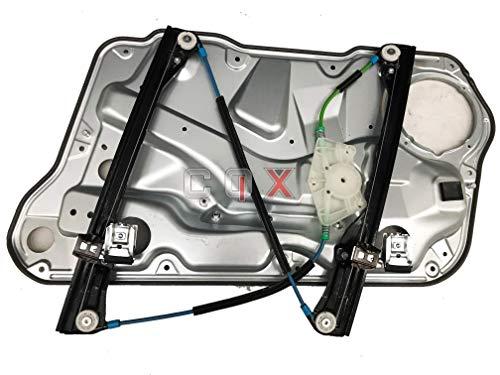 CQX Compatible Lève-vitre Avant Gauche VW Bora -Golf 4-Jetta 98-05 Complet avec panneau1J4837461H pour 4 Portes