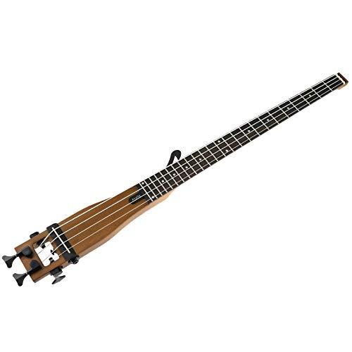 Anygig akustik gitarre Bass Gitarre Holzfarbe Portabel Gitarren 24 Bünde ausgewogene Design für Jazzmusik