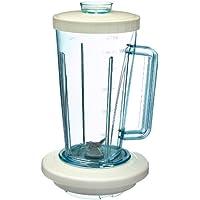 Moulinex A32804 Vaso de batidora, 1.25 litros, Plástico, Blanco/Transparente