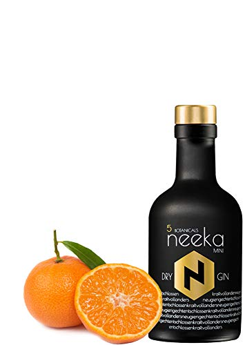 neekaMINI | Mandarinen-Gin | 0.2 L | Premium Dry Gin & Handcrafted in the Black Forest – Germany | 100% Gin Geschmack