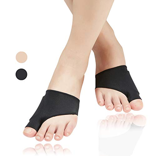 (4pcs) Bunion Corrector,Bunion Relief Sleeve with Soft Gel Cushion REUSEABLE Toe Spacer Socks,Bunion Splints Great for Hallux Valgus & Big Toe Joint,Hammer Toe for Men and Women-Small/Medium.