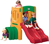 Little Tikes Twin Slide Tunnel Climber - Climb, Crawl & Slide - Active Play Promotes Physical Development - Indoor or Outdoor Playset