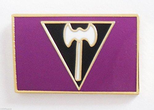 Lesbian (Labrys) Pride Rainbow LGBT Flag Pin Badge