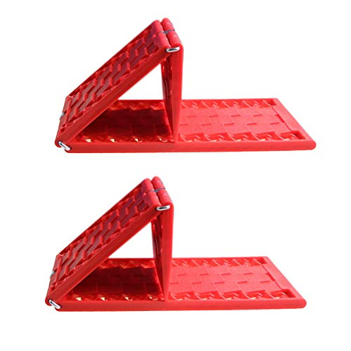 Semoic 2 Stück Universal Gummi faltbar Auto Rad Anti-Rutsch-Pad Faltbare Rutschplatte Reifen Traktion