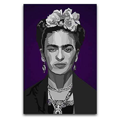 Frida Kahlo De Rivera - Póster decorativo para pared, diseño de Frida Kahlo De Rivera