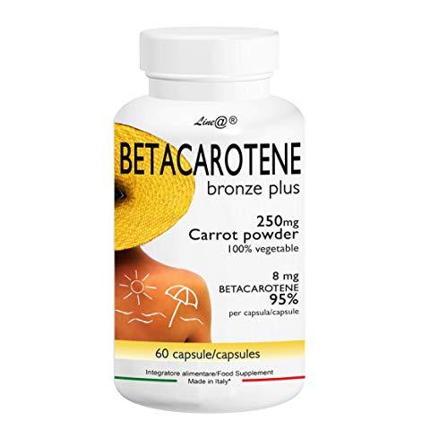 BETACAROTENE BRONZE PLUS Line@Diet - 2 MESI di trattamento - 60 CAPSULE - per prolungare e mantenere l'abbronzatura