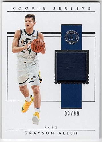 Grayson Allen 2018-19 Panini Encased Rookie Jerseys Jersey Card Serial #03/99 Memphis Grizzlies Utah Jazz