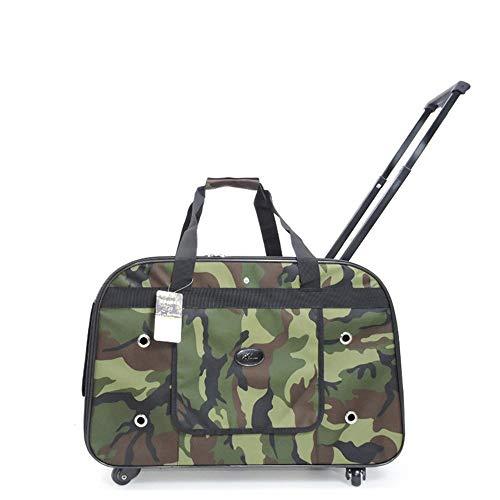 Sebasty Haustier-Trolley Hundetasche Hundetransporttasche Tragetasche Teddy Katze Rucksack Katzengepäck (Farbe: grün)