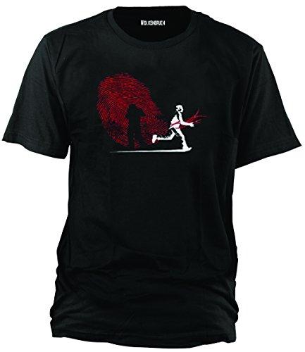 Sputnik-Shirts - Camiseta (Tallas de la S a la 5 XL), diseño de Huella Dactilar