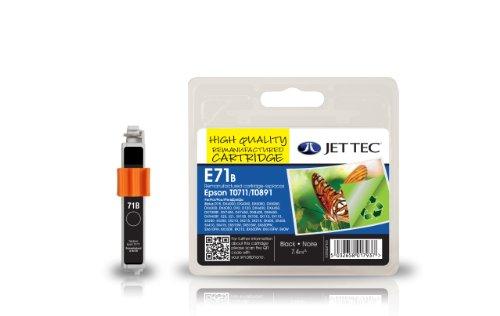 Jet Tec Cartucho de Tinta Compatible para Epson T0711/T0891 - Negro