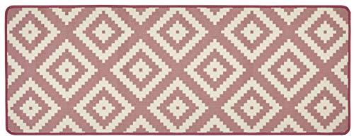 Hanse Home 102674 Teppichläufer, Polyamid, rosa / creme, 67 x 180 x 0.8 cm