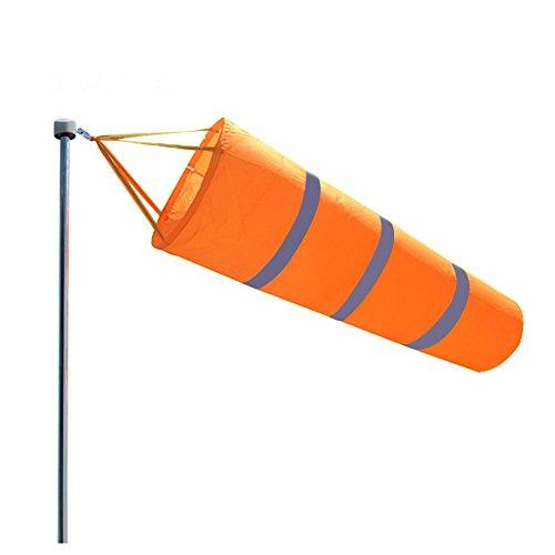 Windsack Richtungstasche Flughafenwindsack Noctilucent Windsock Dekoration Windfahne Flagge Breeze mit reflektierendem Gürtel (80cm)
