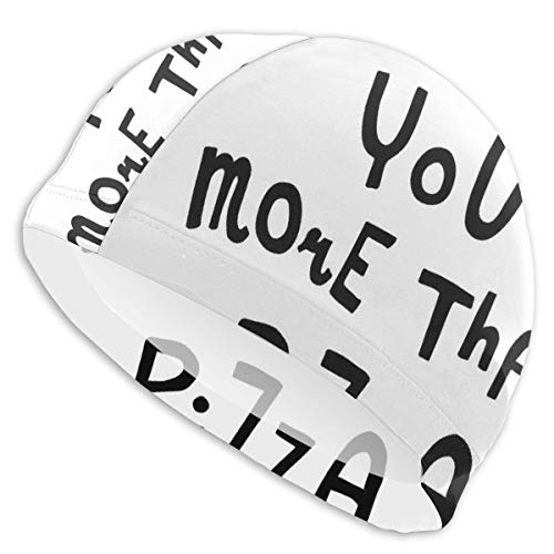 GUUi Swimming Cap Elastic Swimming Hat Diving Caps,Love You More Than Pizza Romantic and Amusing Phrase for Valentines Day,for Men Women Youths