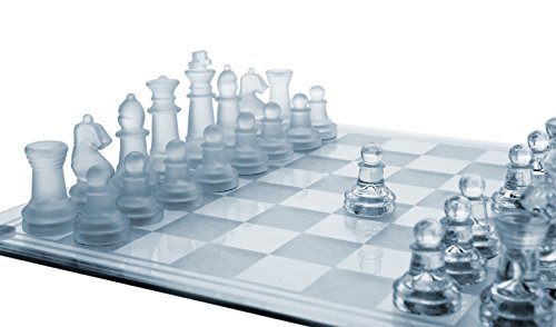 Extra $6 off 12 Inch Glass Chess Set  Clip the Extra $6 off Coupon & add lightning deal price