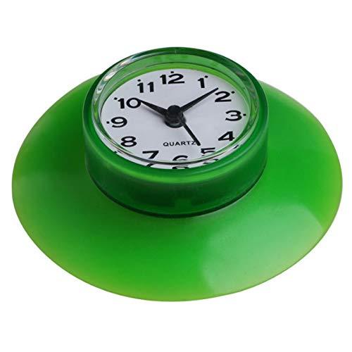 SCAYK Hamble a Prueba de Agua Reloj de Alarma Cocina Baño Baño Relojes de Ducha con Ventosa Taza de succión Relojes de Pared Decoración Ducha del Reloj de Pared del Cuarto de baño (Color : Green)