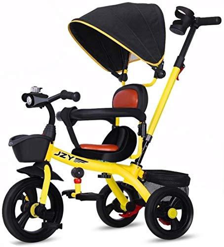 Landaus Baby for enfants Rocking Horse Trikes enfants Tricycle vélo réglable Pare-soleil Convient for 1-6 Ans Bébé Pusher main peut être ajustée Fournitures pour bébé