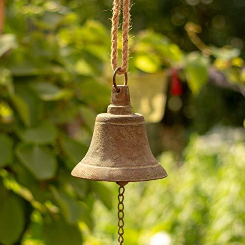 Antikas -Stilvolle Schiffsglocke, Hängeglocke wie Antik, nautische Glocke aus Gusseisen