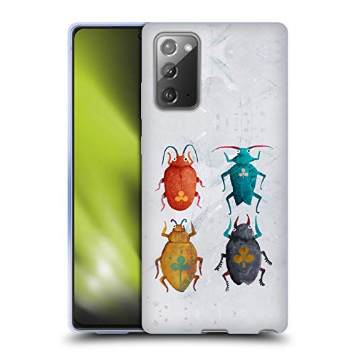 Head Case Designs Officially Licensed Oilikki Club Beetles Animals Soft Gel Case Compatible with Samsung Galaxy Note20 / 5G