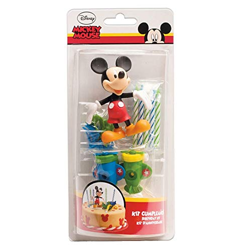 Dekora - 303000 MICKEY Kit Decoration GÂTEAU Figurine, Plastique, Multicolore, 11 x 5 x 23 cm