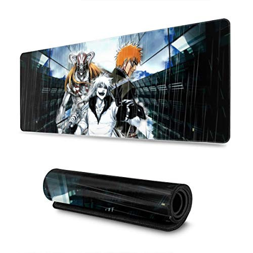 Extra Large Mouse Pad - Bleach Ichigo Gaming Or Desk Mousepad - 31.5'' X 11.8''x0.12''(3mm Thick)- XL Keyboard Desk Mouse Mat for Computer/Laptop