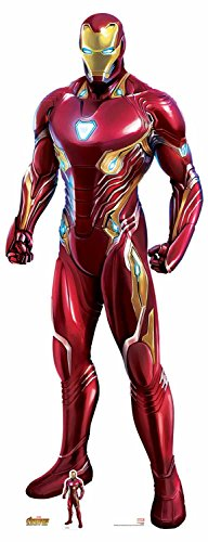 Star inbouwopeningen SC1145 Officieel Marvel karakter van karton, levensgrootte Ironman (Avengers: Infinity oorlog) nano-pak, meerkleurig, 192 cm hoog 74 cm breed