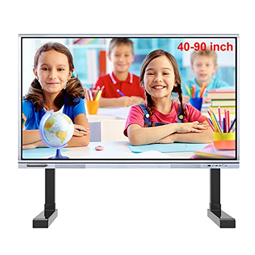 Soporte TV Trole Tarea pesada Soporte de TV de sobremesa universal para sala de estar, Se adapta a televisores de 43 50 55 60 65 70 75 80 84 90 pulgadas, Soporte de pierna ajustable en altura, negro