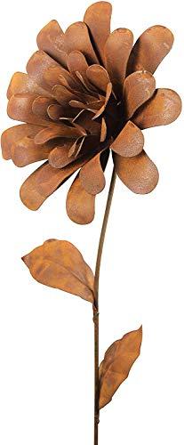 Bornhöft Gartenstecker Blume Metall Rost Gartendeko Edelrost Dahlie Garten Deko Dekoration