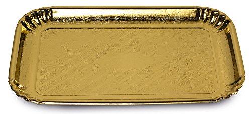 Guardini Monouso, 2 vassoi 33x43cm, Cartoncino, Colore oro