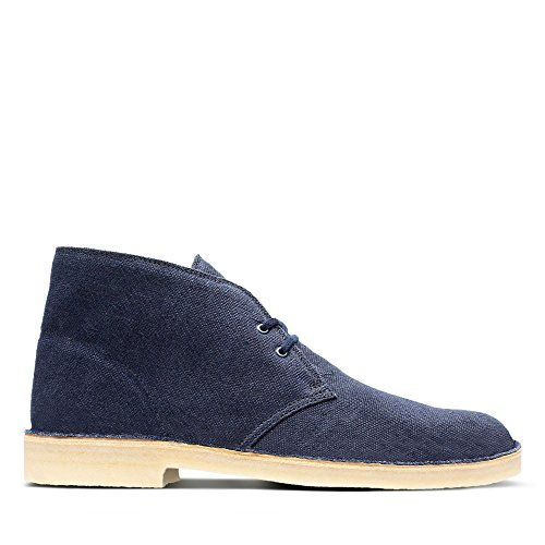 Clarks Originals Desert Boot, Polacchine Uomo, Blu (Navy Fabric), 40 EU