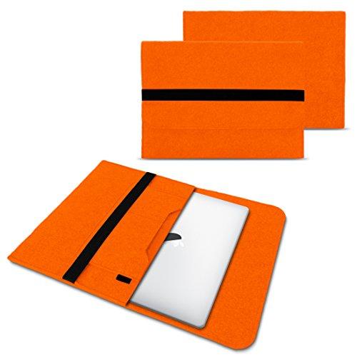 NAUC Laptop Tasche Sleeve Hülle Schutztasche Filz Cover für Tablets & Notebooks Farbauswahl kompatibel für Samsung Apple Asus Medion Lenovo, Farben:Orange, Größe:12.5-13.3 Zoll