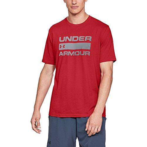 Under Armour Ua Team Issue Wordmark Short Sleeve - T-Shirt - UA TEAM ISSUE WORDMARK Short Sleeve - Homme, Rouge (Red/Steel), L