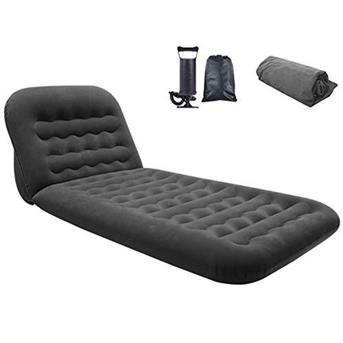 WEYFLY 2in1 Luftmatratze Aufblasbare Luftbett Schlafmatte Faltbar mit Tragbare Luftpumpe und einstellbare Höhe des Kissens, Ultraleichte Isomatte Premium Auto Familie Gästebett und Camping