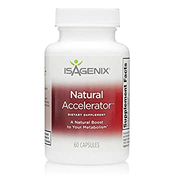 Isagenix Natural Accelerator - Metabolism Boost Capsules with Green Tea Extract Black Pepper Niacin and More - 60 Capsules