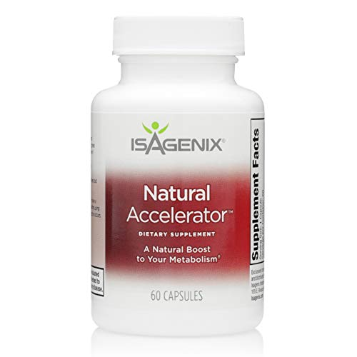 Isagenix Natural Accelerator - Metabolism Boost Capsules with Green Tea Extract, Black Pepper, Niacin and More - 60 Capsules