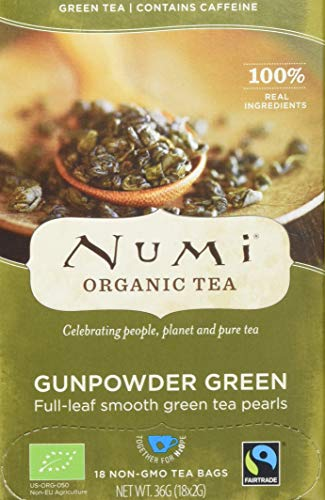 Numi Organic Gunpowder Green - Temple of Heaven 18 Beutel (1 x 36 g) - Bio