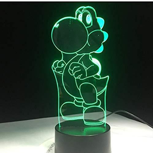 Figura clásica de juego de dibujos animados Super Mario Bros Luigi Sapo Dragón 3D LED Lámpara Acrílico Novedad Navidad Iluminación regalo USB Touch Toy