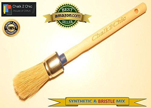 #BB25-25 mm, motivo: pure PLUS-Gesso-Vernice con setole sintetiche stile SHABBY CHIC furniture-Pennello per pittura, 5 cm