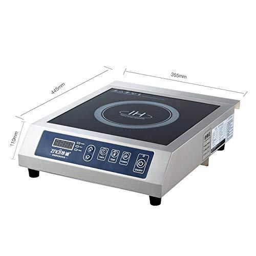 Placa de cocina de 3500 W, 13 velocidades, ajuste de temperatura, pantalla digital, protección contra sobrecalentamiento