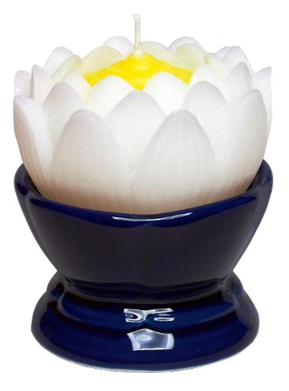 ヒューム神ソーダ水マルエス 蓮の花 大 ホワイト 燭台付