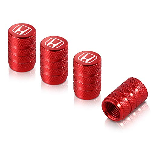 Qideloon Auto Valve Stem Caps,4 Pack Universal Tire Valve Caps with Logo Emblem for Cars, SUVs, Bike and Bicycle, Trucks, Motorcycles Airtight Seal Heavy Duty