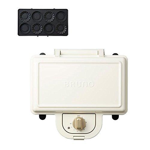 ブルーノ BRUNO ホットサンドメーカー 耳まで焼ける 電気 ミニタルトプレート セット ダブル ホワイト BOE044-WH 1700458
