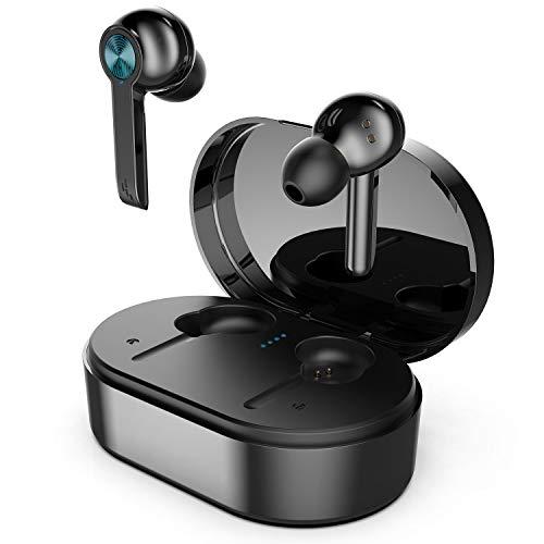 CARRVAS - Auriculares inalámbricos in-ear con control táctil y maletín de carga,...
