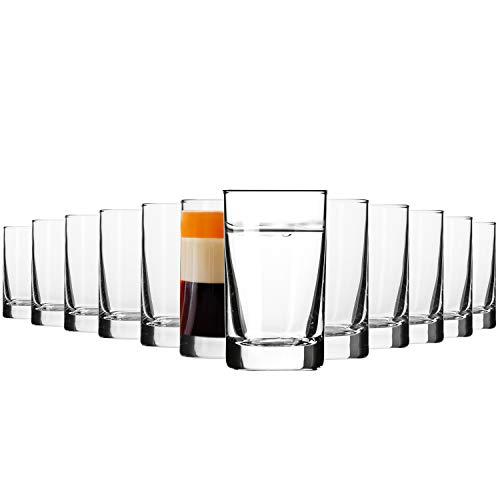 Krosno Schnapsgläser Shotgläser Vodka Glas   12-teiliges Set   50 ml   Shot Kollektion   Perfekt für Zuhause, Restaurants und für Partys und Veranstaltungen   Spülmaschinenfest