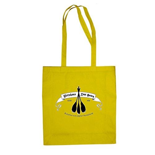 Planet Nerd HP Wirtshaus Drei Besen - Stofftasche/Beutel, Farbe: gelb