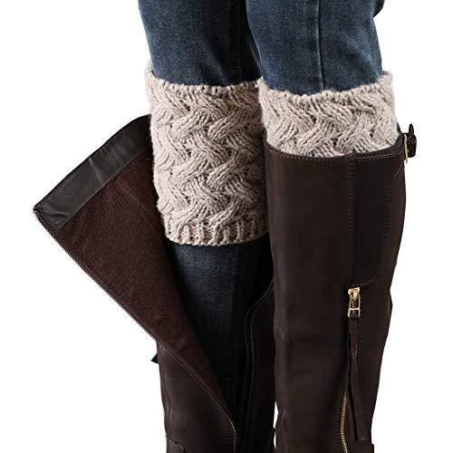 Vellette calentador de pierna Mujer calcetines de punto el¨¢stico cubierta de boot Calentador de pierna