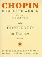 Concerto F Minor Cw Vol. 20 Volume 20