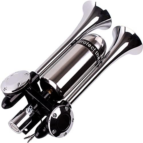Cuerno de aire de protección sostenida para oídos, 12 y 24 V, producto general de acero inoxidable, bocina de alto decibelio, adecuado para una variedad de modelos