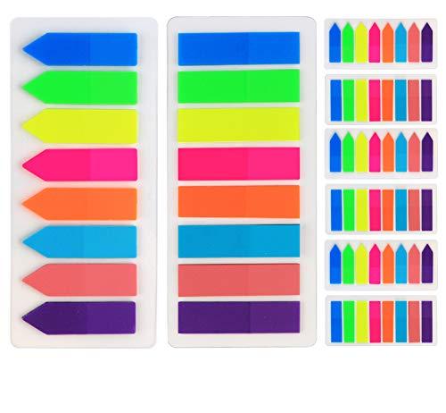 1920 Stück Haftmarker Flaggen Pfeil Tabs Page Marker Haftnotizen index tabs beschreibbare Haftstreifen für Seitenmarkierung, 8 Farben,12 Set