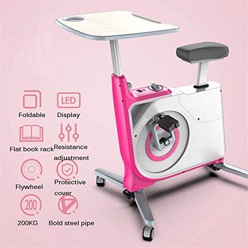 Amazing Deal LHY Folding Exercise Bike Indoor Cycling Bikes,with Height Adjustable Standing Desk and...